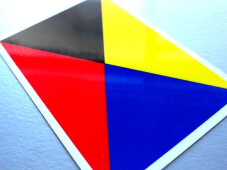 国際信号旗 ステッカー マグネット