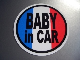 BABY/CHILD/KIDS in CAR+国旗デザイン
